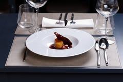 γαστρονομικό γεύμα Στοκ Εικόνα