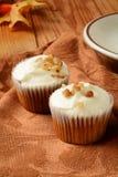 Γαστρονομικό καρότο cupcakes Στοκ φωτογραφία με δικαίωμα ελεύθερης χρήσης