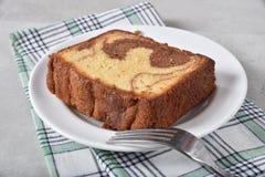Γαστρονομικό μαρμάρινο κέικ Στοκ φωτογραφίες με δικαίωμα ελεύθερης χρήσης