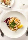 Γαστρονομικό πιάτο γευμάτων Στοκ φωτογραφίες με δικαίωμα ελεύθερης χρήσης