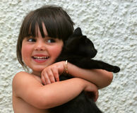 γατάκι ευτυχίας νέο Στοκ Εικόνες