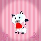 γατάκι καρδιών Στοκ Εικόνες