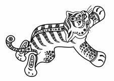 Γατάκι τιγρών Ελεύθερη απεικόνιση δικαιώματος