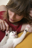γατάκι 2 εύθυμο στοκ εικόνες