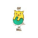 Γατάκι Logotype Ελεύθερη απεικόνιση δικαιώματος