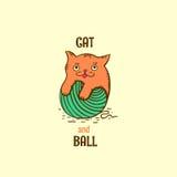 Γατάκι Logotype Διανυσματική απεικόνιση
