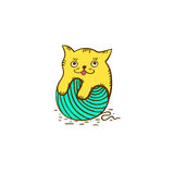 Γατάκι Logotype Απεικόνιση αποθεμάτων