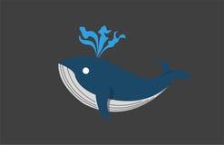 Γαλάζια φάλαινα επίπεδη Στοκ Εικόνες