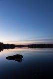 Γαλήνια άποψη της ήρεμης λίμνης Στοκ Εικόνα