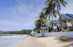 Γαλήνια παραλία στη Αγία Λουκία στοκ εικόνα