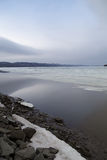 Γαλήνια σκηνή του επιπλέοντος πάγου Στοκ Φωτογραφίες