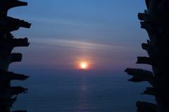 γαλήνιο ηλιοβασίλεμα Στοκ Εικόνες