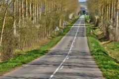 Γαλλία, γραφικό χωριό Couargues στο Val-de-Loire Στοκ φωτογραφία με δικαίωμα ελεύθερης χρήσης