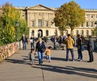 Γαλλία, γραφικό Pont des Arts στο Παρίσι Στοκ Εικόνες