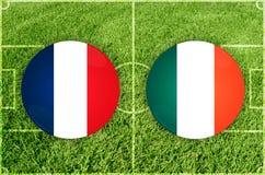 Γαλλία εναντίον της Ιρλανδίας Στοκ Φωτογραφία