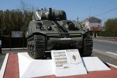 Γαλλία, δεξαμενή Sherman σε Ecouche σε Normandie Στοκ εικόνα με δικαίωμα ελεύθερης χρήσης