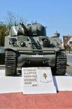 Γαλλία, δεξαμενή Sherman σε Ecouche σε Normandie Στοκ φωτογραφία με δικαίωμα ελεύθερης χρήσης
