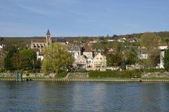 Γαλλία, η γραφική πόλη του Triel-sur-Seine Στοκ φωτογραφία με δικαίωμα ελεύθερης χρήσης