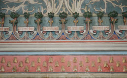 Γαλλία, ιστορικό κάστρο Pierrefonds σε Picardie Στοκ Φωτογραφίες