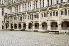 Γαλλία, ιστορικό κάστρο Pierrefonds σε Picardie Στοκ Εικόνες