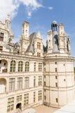 Γαλλία Λεπτομέρεια της πρόσοψης donjon του κάστρου Chambord, 1519 - 1547 έτη Στοκ Φωτογραφία