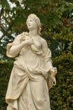 Γαλλία, μαρμάρινο άγαλμα στο πάρκο παλατιών των Βερσαλλιών Στοκ Φωτογραφίες