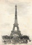 Γαλλία Παρίσι Εκλεκτής ποιότητας απεικόνιση με τον πύργο του Άιφελ Στοκ φωτογραφία με δικαίωμα ελεύθερης χρήσης