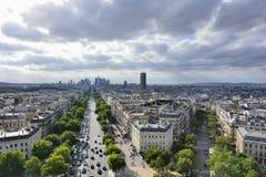Γαλλία Παρίσι Εναέρια άποψη σχετικά με τον πύργο του Άιφελ, Arc de Triomphe, το Les Invalides κ Στοκ φωτογραφία με δικαίωμα ελεύθερης χρήσης