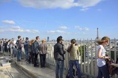 Γαλλία Παρίσι Εναέρια άποψη σχετικά με τον πύργο του Άιφελ, Arc de Triomphe, το Les Invalides κ Στοκ Φωτογραφία