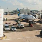 Γαλλία, Παρίσι - 17 Ιουνίου 2011: Boeing που συνδέεται Στοκ Εικόνες