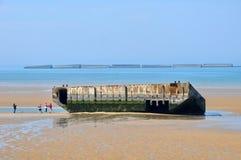 Γαλλία, πόλη Arromanches σε Normandie Στοκ εικόνες με δικαίωμα ελεύθερης χρήσης