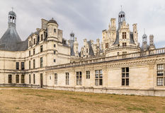Γαλλία Τύπος Chambord, 1519 - 1547 έτη Το κάστρο συμπεριλαμβάνεται στην περιοχή παγκόσμιων κληρονομιών της ΟΥΝΕΣΚΟ Στοκ εικόνες με δικαίωμα ελεύθερης χρήσης