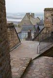 Γαλλία Mont Saint-Michel το χειμώνα Στοκ φωτογραφία με δικαίωμα ελεύθερης χρήσης