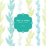 Γαλαζοπράσινο άνευ ραφής σχέδιο πλαισίων αμπέλων φυκιών ελεύθερη απεικόνιση δικαιώματος