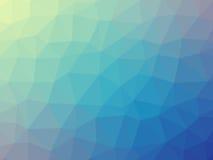 Γαλαζοπράσινο διαμορφωμένο τρίγωνο υπόβαθρο κλίσης Στοκ φωτογραφίες με δικαίωμα ελεύθερης χρήσης