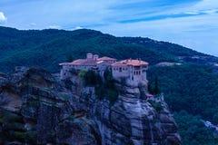 Γαλαζωπό τοπίο Meteora Ελλάδα Στοκ εικόνα με δικαίωμα ελεύθερης χρήσης