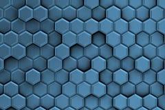 Γαλαζωπό υπόβαθρο με τη σύσταση hexagons Στοκ φωτογραφία με δικαίωμα ελεύθερης χρήσης