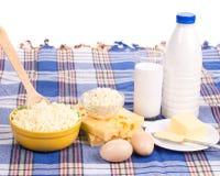 Γαλακτοκομικά προϊόντα στην κατάταξη Στοκ Εικόνες