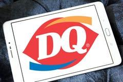Γαλακτοκομική βασίλισσα, λογότυπο εστιατορίων γρήγορου φαγητού DQ Στοκ εικόνα με δικαίωμα ελεύθερης χρήσης