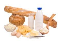 γαλακτοκομικό λευκό προϊόντων απομόνωσης Στοκ Εικόνες