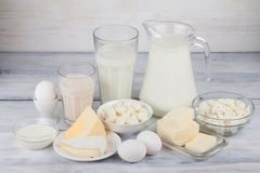 γαλακτοκομικό λευκό προϊόντων απομόνωσης Στοκ Εικόνα