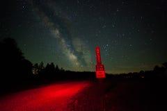 Γαλακτώδης γαλαξίας τρόπων Στοκ Εικόνες