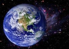 Γαλαξίας γήινου διαστημικός κόσμου Στοκ φωτογραφία με δικαίωμα ελεύθερης χρήσης