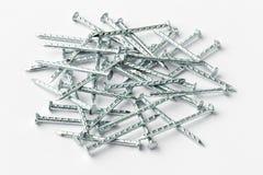 Γαλβανισμένα καρφιά σιδήρου Στοκ φωτογραφία με δικαίωμα ελεύθερης χρήσης