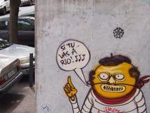 Γαλλικά γκράφιτι στον τοίχο στοκ φωτογραφία με δικαίωμα ελεύθερης χρήσης