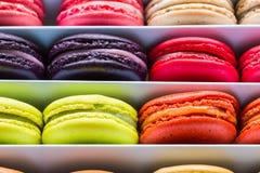 Γαλλικά ζωηρόχρωμα macarons Στοκ Εικόνα