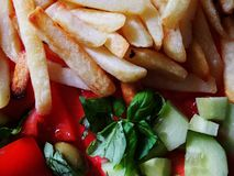 γαλλικά που τηγανίζεται Στοκ φωτογραφία με δικαίωμα ελεύθερης χρήσης