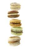 Γαλλικά macaroons επιδορπίων Watercolor Στοκ φωτογραφία με δικαίωμα ελεύθερης χρήσης