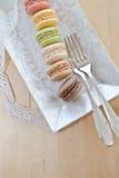Γαλλικά macaroons Στοκ Εικόνες