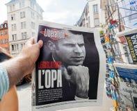 Γαλλικές και διεθνείς αντιδράσεις Τύπου στο γαλλικό νομοθετικό ε Στοκ φωτογραφία με δικαίωμα ελεύθερης χρήσης